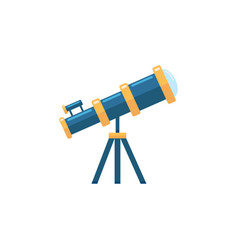 Telescope flat icon education and astronomy vector