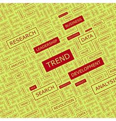 TREND vector image