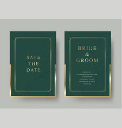 Vintage luxury wedding invitation card vector