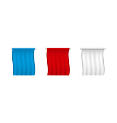 white red blue empty pennant templates vector image