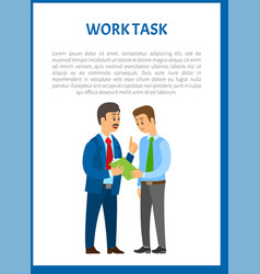 Work task company leader giving directions vector