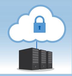 big data cloud computing security concept vector image vector image