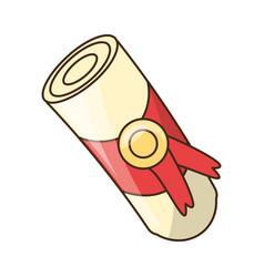 cute diploma cartoon vector image