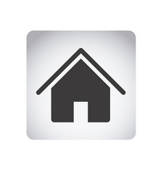 gray emblem house icon vector image