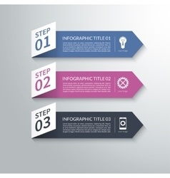 Modern 3d paper arrow infographic design elements vector image vector image