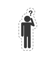 pictogram question mark imag vector image vector image