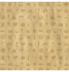 Vintage Restaurant Background vector image vector image