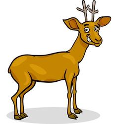 wild deer cartoon vector image vector image