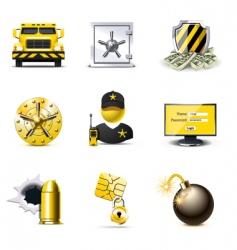 bank security icons | bella vector image