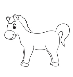 Cartoon horse for coloring vector image vector image