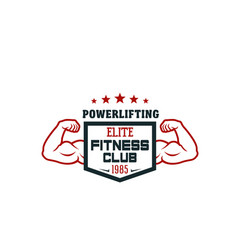 fitness sport club and gym isolated icon design vector image