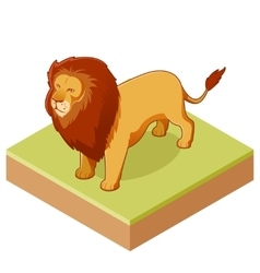 Lion isometric icon2 vector image