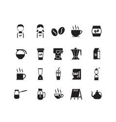 set of coffee shop icon symbol vector image