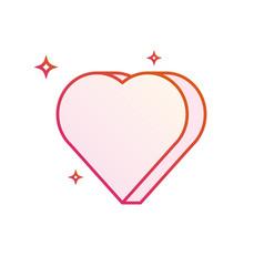 3d heart icon gradient line vector image vector image