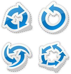 Arrow blue stickers vector image