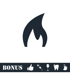 Fire icon flat vector image