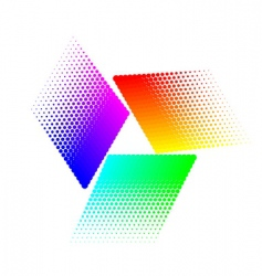 halftone triangular vector image vector image