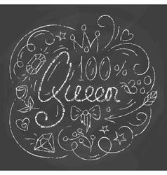 Queen Typography Design Lettering print for vector image vector image