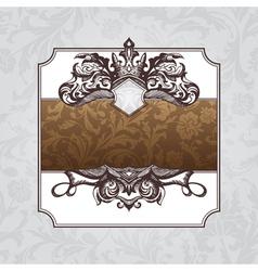 royal ornate vintage frame vector image