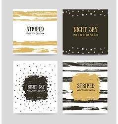 Set of beautiful hand drawn greeting cards vector
