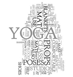 yoga props text word cloud concept vector image vector image