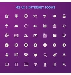 Big UI And Internet icon set vector image vector image