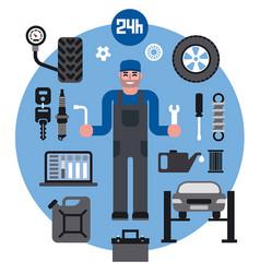 car service repair icons vector image