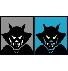 Dracula halloween mask 1 vector image vector image