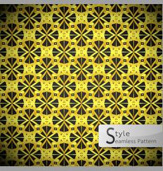 flower mesh gold vintage geometric seamless vector image