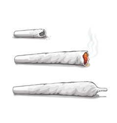 Joint or spliff Drug consumption marijuana and vector image