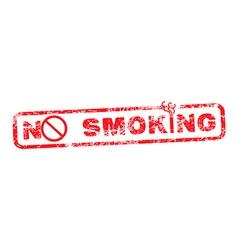 no smoking red grunge rubber stamp vector image