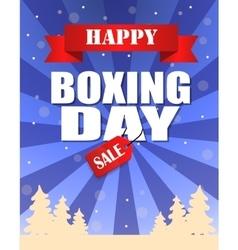 Vintage happy Boxing Day design vector image
