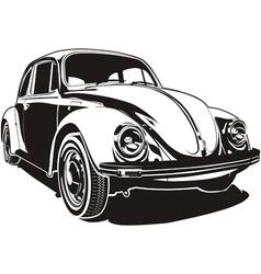 VW bug vector image