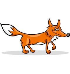 wild fox cartoon vector image vector image
