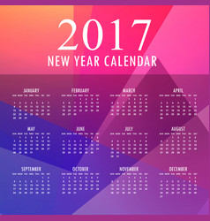 2017 colorful new year design with abstract shapes vector image