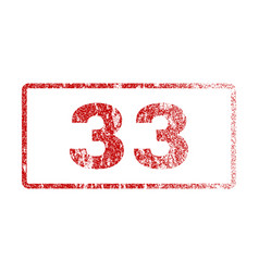 33 rubber stamp vector image