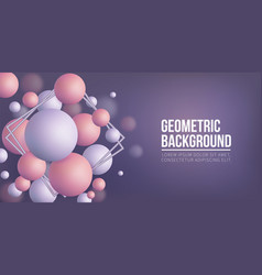 abstract background geometric shapes vector image