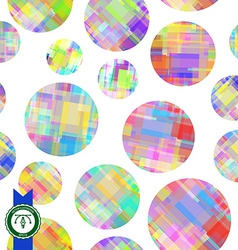 Abstract Colorful Circles Seamless Pattern vector
