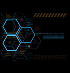 Abstract hexagon futuristic technology vector
