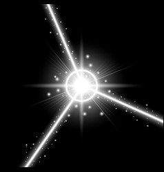 abstract laser beams white color vector image