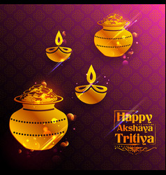 Akshay tritiya religious festival of india vector