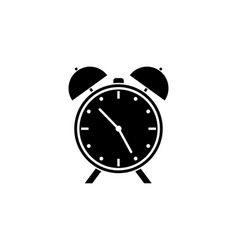 alarm clock solid icon school and office element vector image