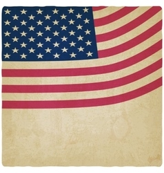 American flag vintage background vector