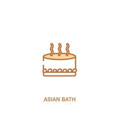 Asian bath concept 2 colored icon simple line vector