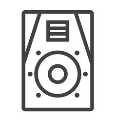 audio monitor line icon music and instrument vector image