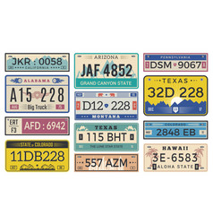 Automobile plate license utah usa or indiana vector