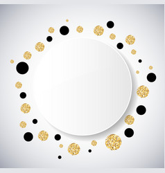 Background with black and gold glittering circles vector