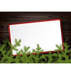 Background with fir branches vector image