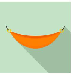 beach hammock icon flat style vector image