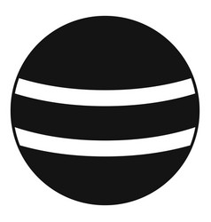 Black with white stripes icon simple style vector
